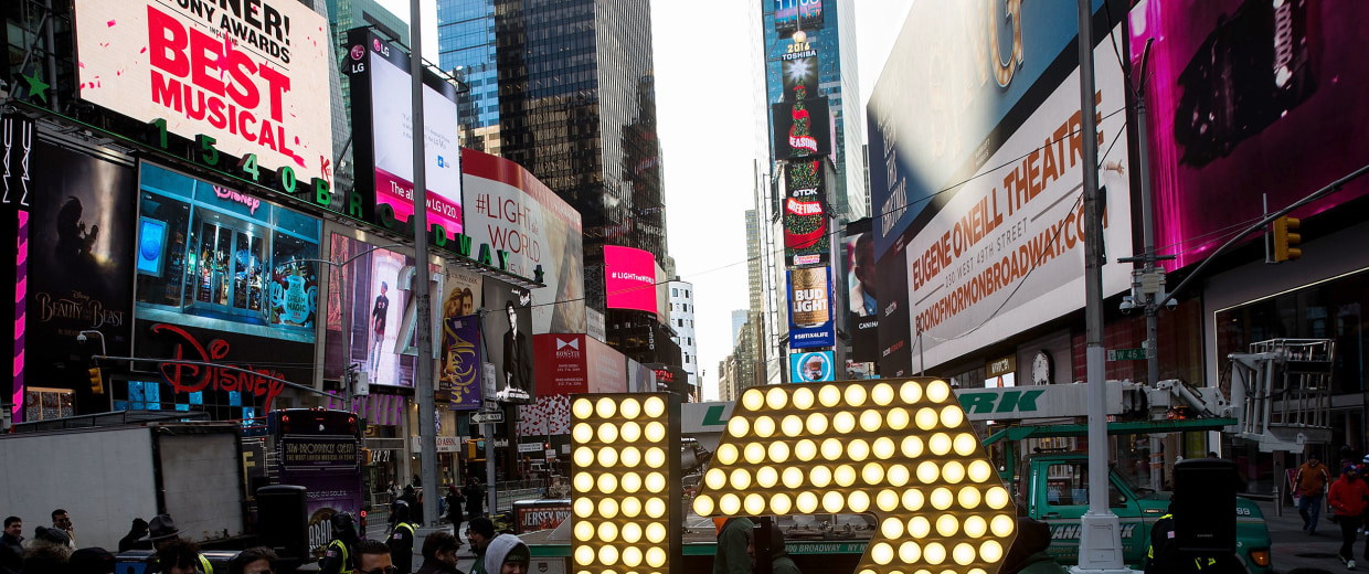Image: Numerals For Times Square New Year's Eve Celebration Are Delivered To Times Square
