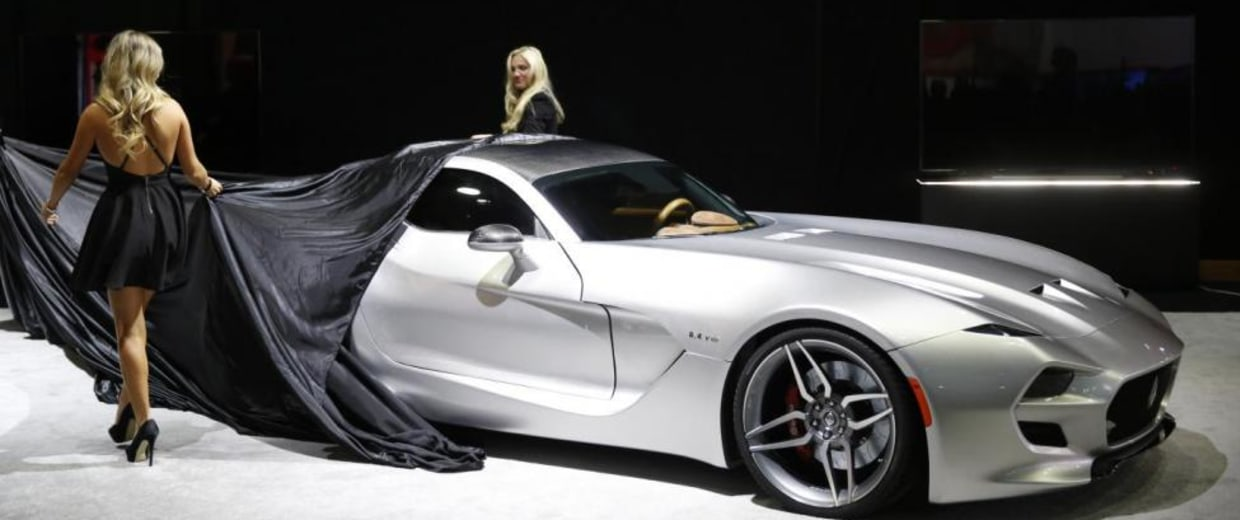 The 2016 Fisker V10 Force 1 is unveiled during the official launch of VLF Automotive at the North American International Auto Show in Detroit