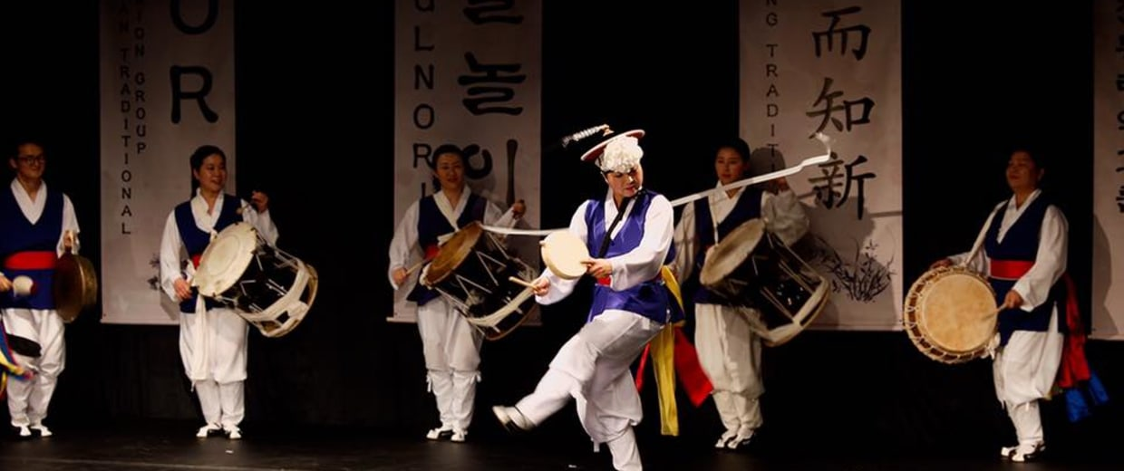 NORI members perform at the Korean Cultural Center in Los Angeles, Calif., on Dec. 16, 2016.