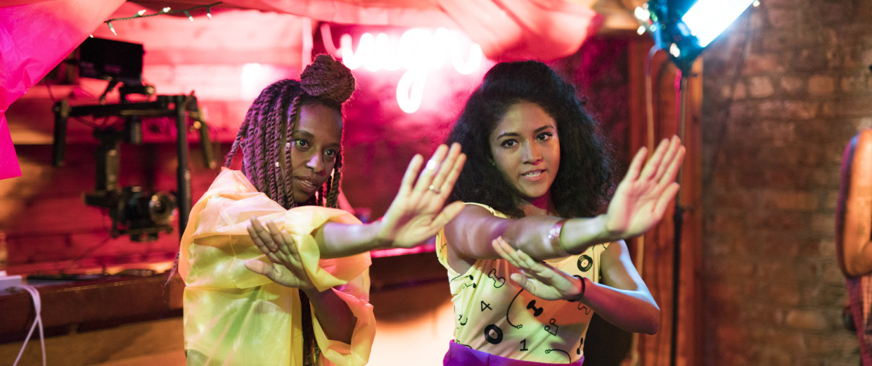 """Sonia Denis and Nabila Hossain star in """"Brown Girls,"""" a web series written by Fatimah Asghar and directed by Sam Bailey."""