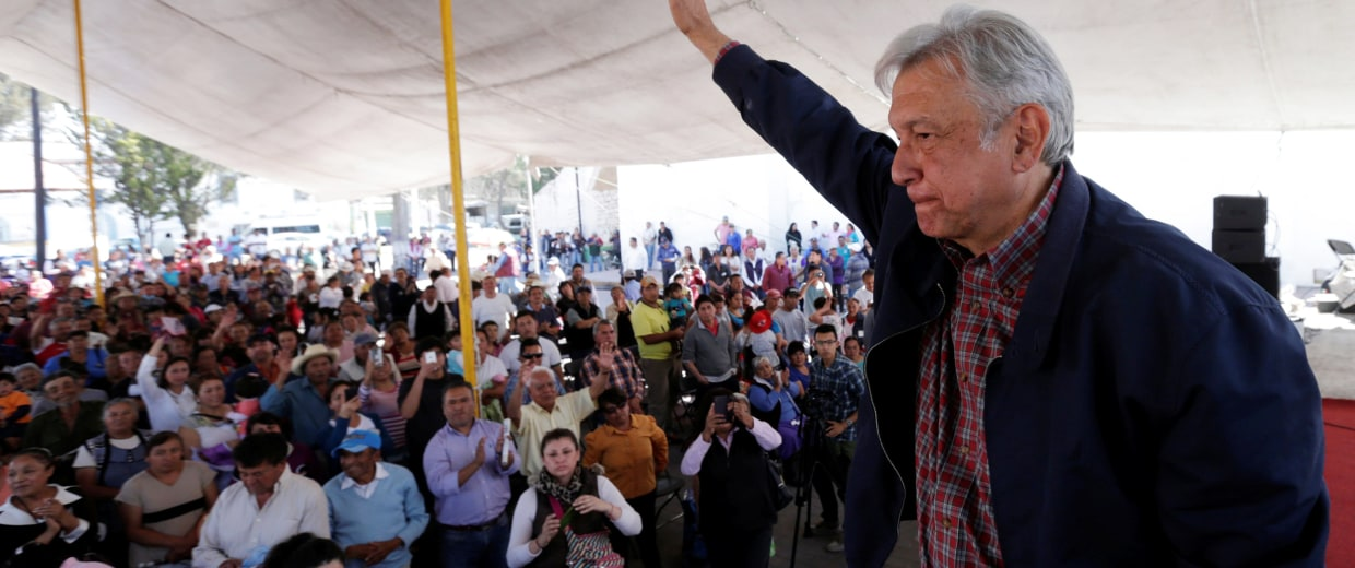 Image: Andres Manuel Lopez Obrador, leader of the National Regeneration Movement