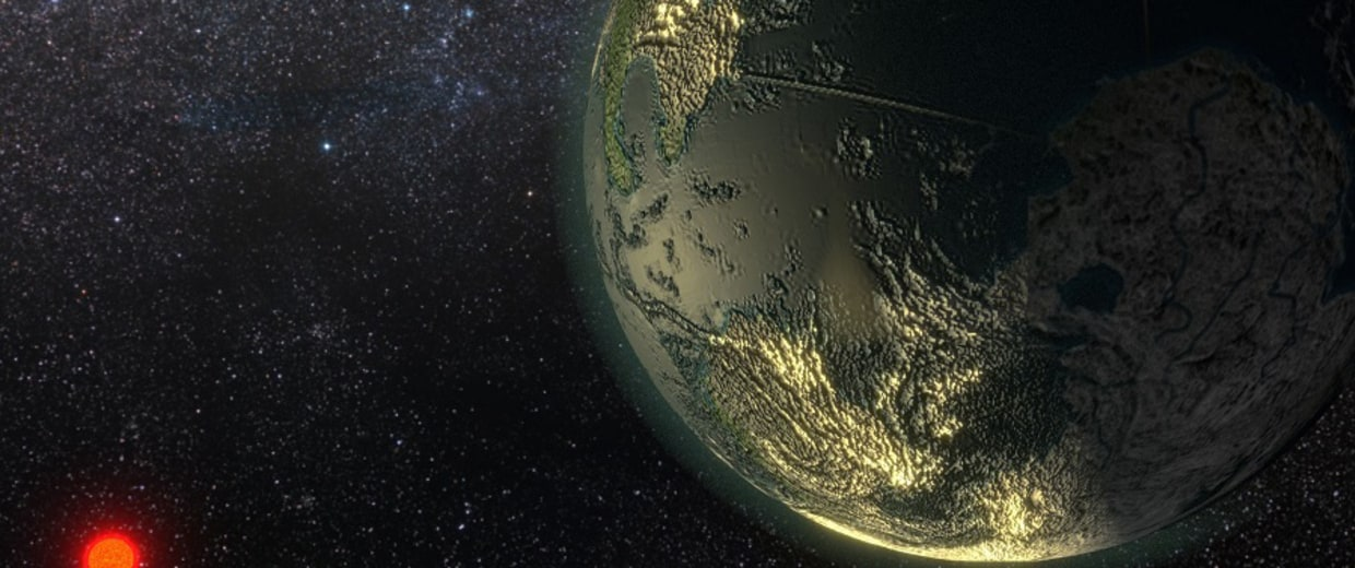 Image:  probable planet orbiting the star GJ 411