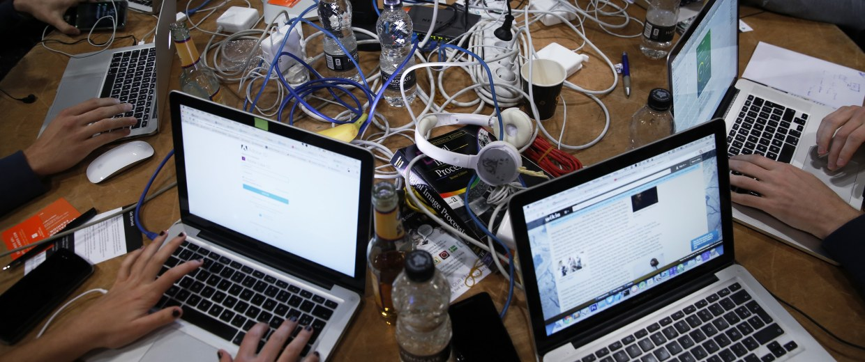Developers And Coders Attend The  TechCrunch Disrupt London 2015 Hackathon