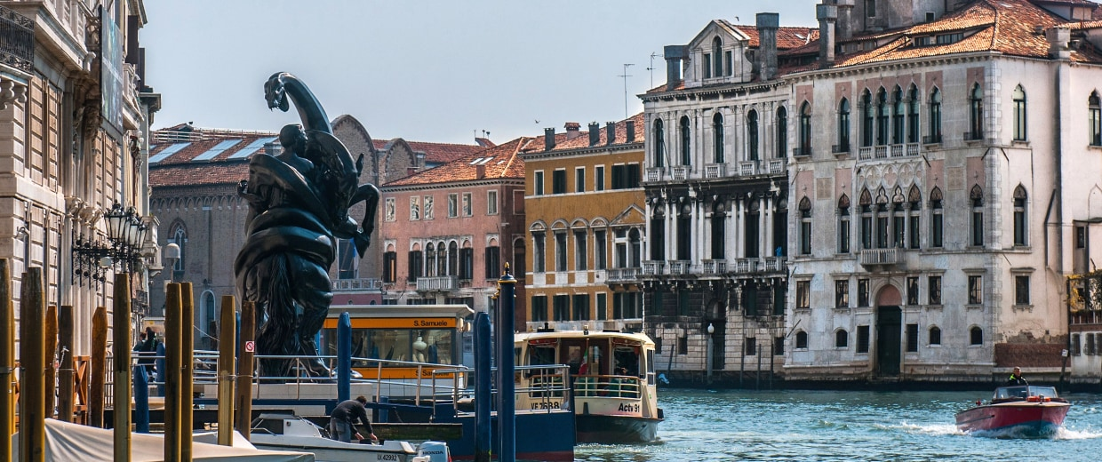 Image: A sculpture from Damien Hirst's new exhibition is seen at Palazzo Grassi in Venice