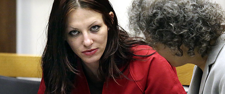 Image: Alix Tichelman, left, 26, of Folsom, Calif., confers with public defender Diane August, right, during her arraignment in Santa Cruz Superior Court