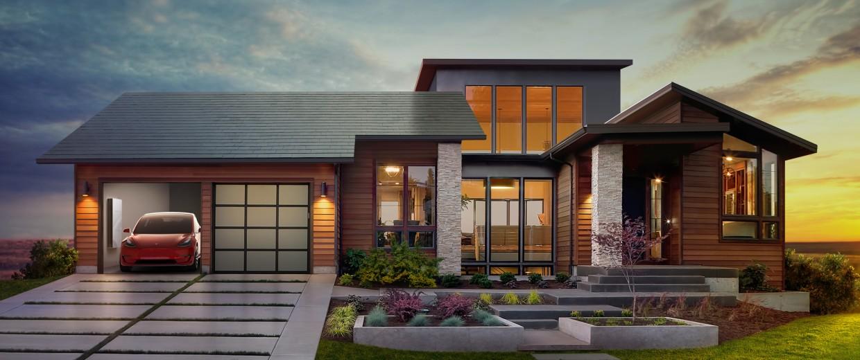 Image: Tesla solar house