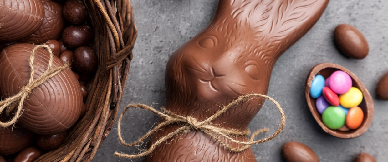 Image: Chocolate Easter bunny and eggs