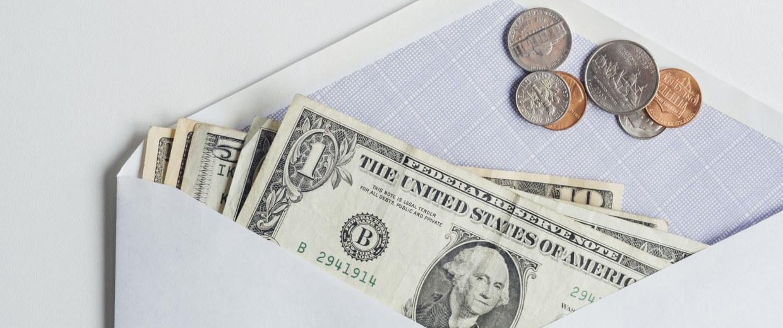 Image: Money in envelope