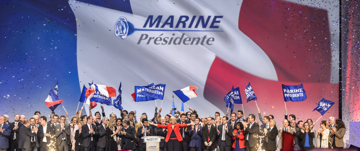 Image: Marine Le Pen campaign rally in Paris
