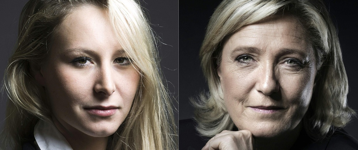 Image: Marion Marechal-Le Pen and Marine Le Pen