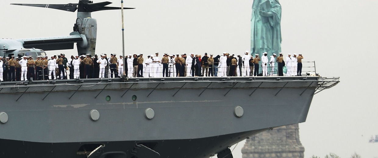 Image: Annual Parade Of Ships Kicks Off Fleet Week In New York
