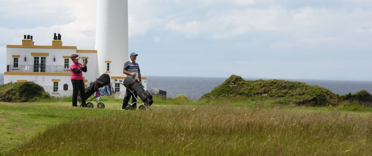 Image: Golfers at the Trump Turnberry resort