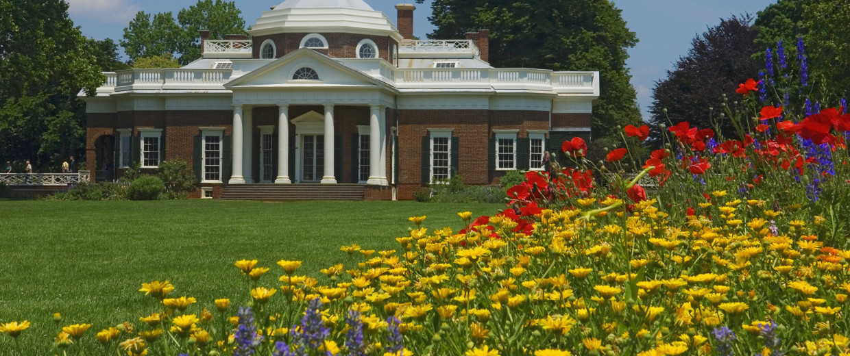 Image: Monticello was the estate of Thomas Jefferson third President of the United States and founder of the University of Virginia.