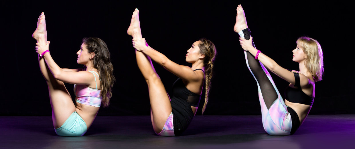 Image: Fitness instructor and YouTube star Cassey Ho doing POP Pilates.