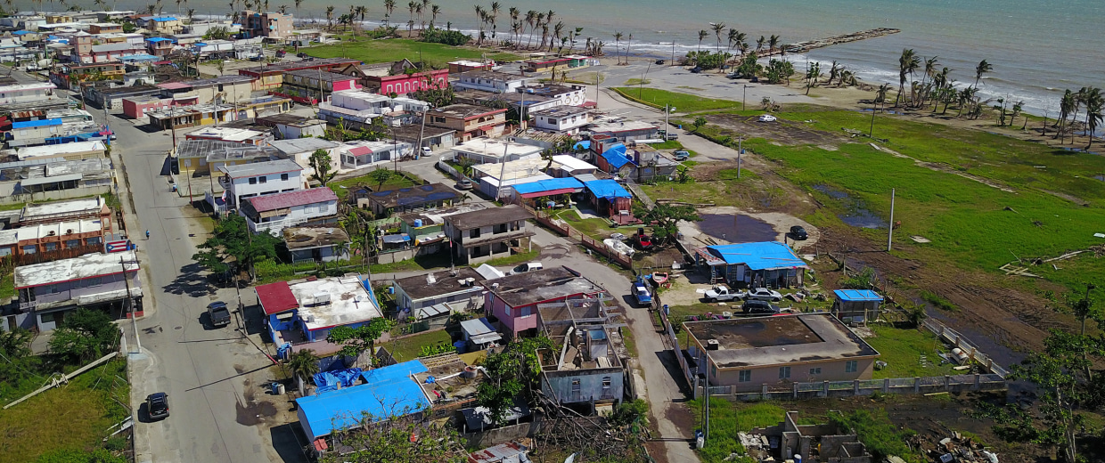 Image: An aerial view of the Punta Santiago beachfront neighborhood