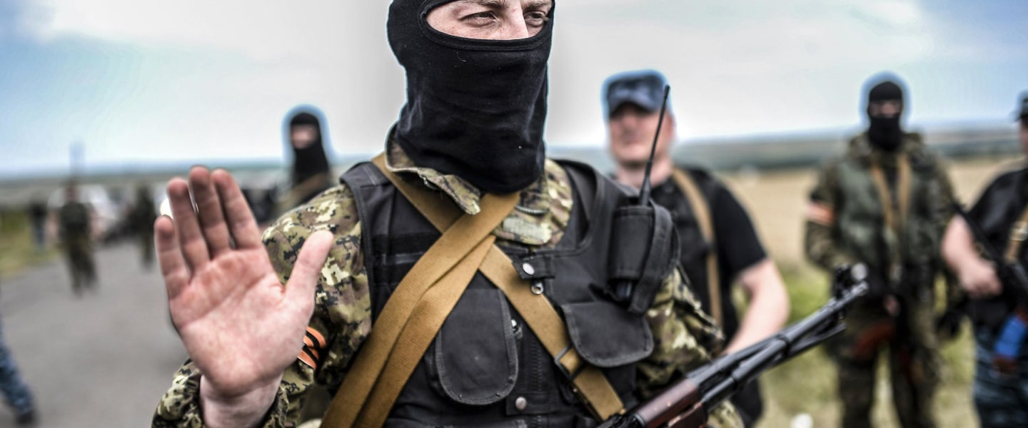 Image: An armed pro-Russian separatist
