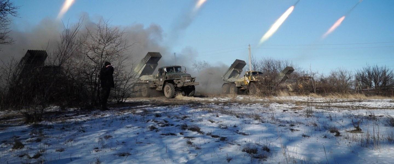 Image: Pro-Russian rebels launch missiles in eastern Ukrainian