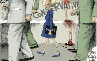 Political Cartoon Compares Betsy DeVos to Civil RIghts Icon Ruby Bridges