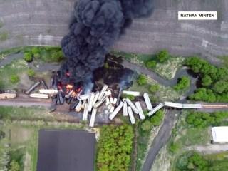 Train carrying hazardous materials derails in Iowa, prompting evacuations