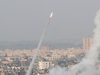 Video shows rockets being fired toward Jerusalem from Gaza