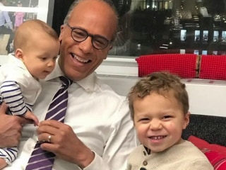 Lester Holt is going to be a 'granddude' again!