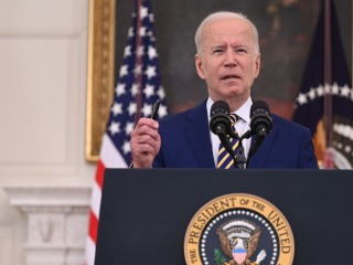 Biden announces 300 million doses of Covid vaccine have been administered in 150 days
