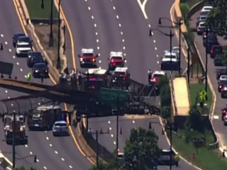Pedestrian bridge collapse injures 5 in Washington, DC