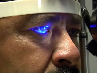 Treating blindness caused by diabetes