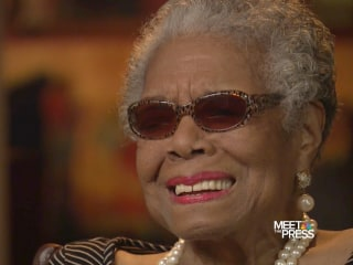 "Angelou on MTP: ""Courage is most important of all the virtues"""