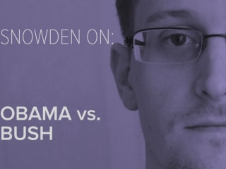 Snowden on: Obama vs. Bush