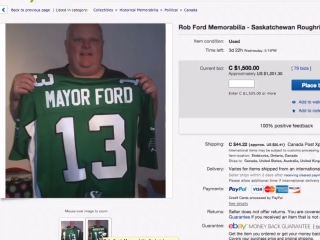 eBay Voters Get a Crack at Rob Ford Memorabilia