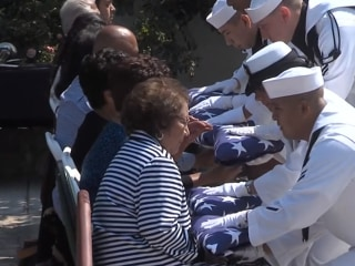 Cesar Chavez Honored With Military Funeral