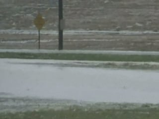 Baseball-Sized Hail Falls in Kansas