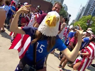 Soccer Fans Celebrate U.S. Women's World Cup Win