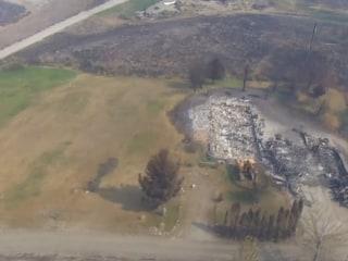Birds-Eye View Shows Fire Devastation