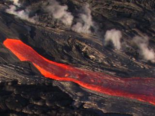Lava Flows from Hawaii's Kilauea Volcano