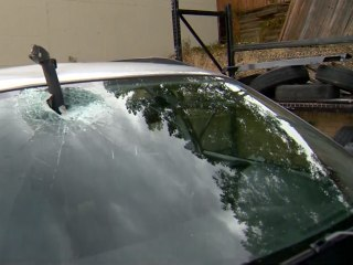 Metal Bar Pierces Windshield of Colorado Car