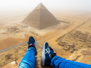 Teen Films His Illegal Climb Up the Great Pyramid