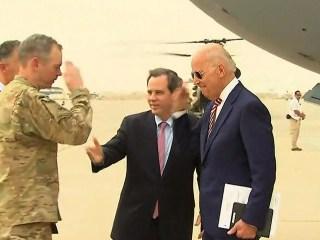 Watch Joe Biden Arrive in Iraq