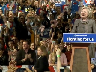 Clinton Celebrates Pennsylvania Win on Primary Night