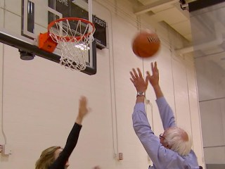 Watch Bernie Sanders Shoot Hoops With NBC's Chris Jansing