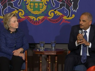Holder Likes Clinton's Plan for Criminal Justice Reform