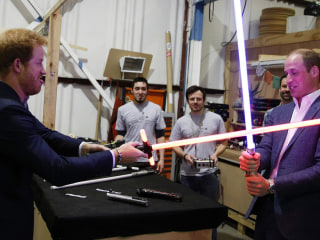 Princes William & Harry Find The Force Is With Them