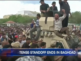 Baghdad Protesters Peacefully Make Way Out of Green Zone
