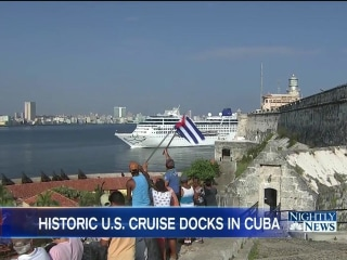 U.S. Cruise Ship Docks in Havana for First Time in More Than 50 Years