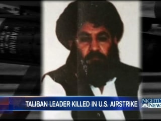 Afghan Government Says U.S. Drone Strike Killed Taliban Leader Akhtar Mansour