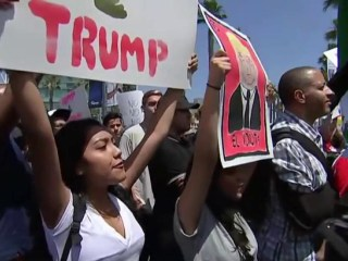Protesters Descend On Trump Rally In San Diego