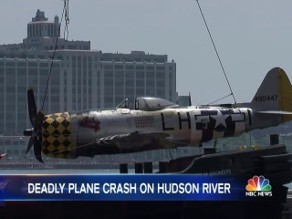 Vintage World War II Fighter Plane Crashes Into Hudson River
