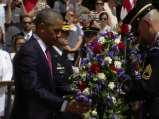 Obama Honors the Fallen on His Last Memorial Day in Office