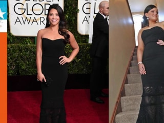 High School Student Wears Gina Rodriguez's Golden Globes Dress to Prom